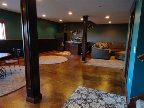 Acid-wash-concrete-basement-traditional-with-basement