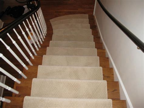 New Hardwood Stairs with Carpet Runner   HARDWOODS DESIGN