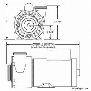 3hp Waterway Hot Tub Pump  U0026 Motor - 2 5 U0026quot  In  2 0 U0026quot  Out 56 Frame