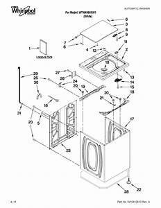Whirlpool Model Wtw4950xw1 Residential Washers Genuine Parts