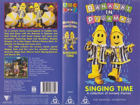 Nursery Rhymes Vhs by Singing Time Special Bananas In Pyjamas Wiki