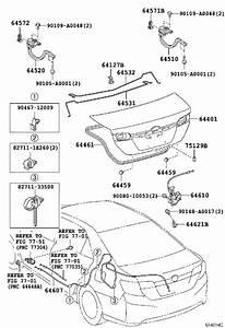 2016 Toyota Camry Hardware Kit  Rear Spoiler  Exterior - 6412706110
