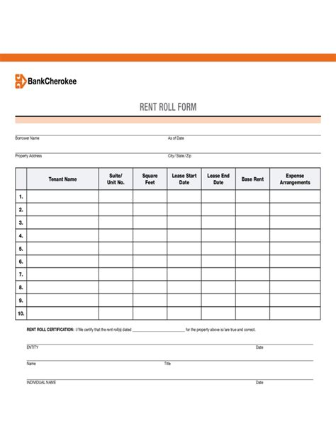 rent roll template rent roll form 5 free templates in pdf word excel