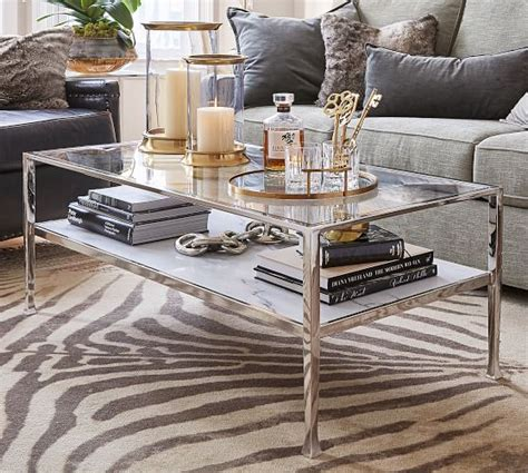 Tanner Marble Rectangular Coffee Table  Pottery Barn