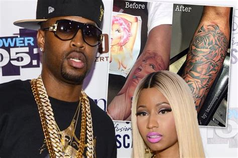 nicki minajs  safaree samuels  tattoo   face