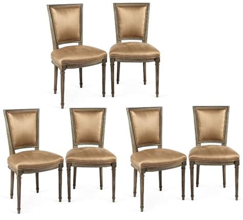 set of six circa 1900 louis xvi style neo classical dining
