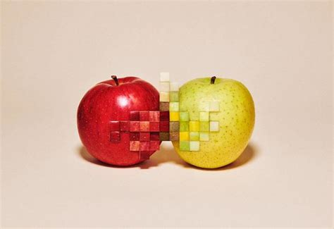 pixelated unkonventionelle food art von yuni yoshida