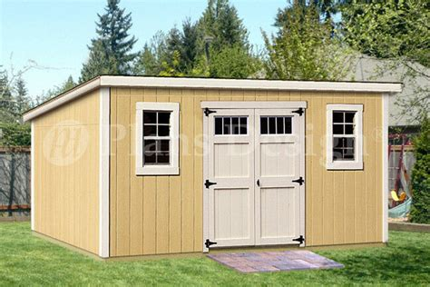 deluxe shed plans modern roof style dm