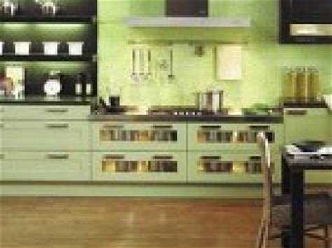 cuisine verte et marron photo cuisine vert amande par deco