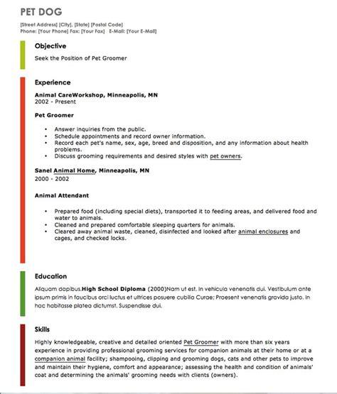 pin  latifah   resume cv pet grooming resume