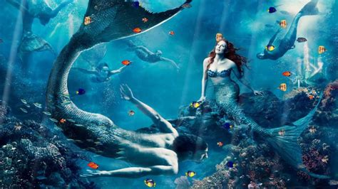 Beautiful Mermaids Animated Wallpaper - diver and the mermaid wallpapers hd id 13884 at wallpaper