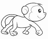Coloring Monkeys Pages Children Few Printable Animals Justcolor sketch template