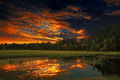Nature Sunset Night Landscape Wallpapers Soleil Clouds