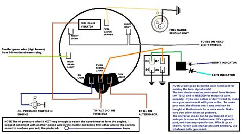diagram for instrument and lights vw beetle vw parts vw cars