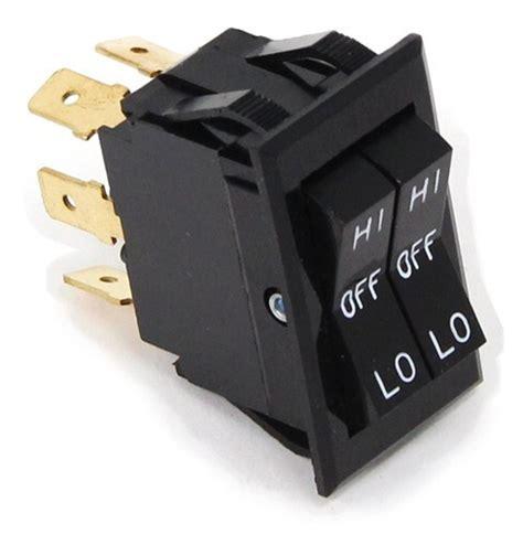 Universal Design Rocker Switch Dual Actuators Dpdt