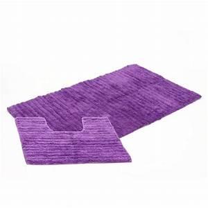 tapis de salle de bain contour wc violet With tapis salle de bain et contour wc