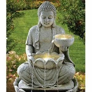 Grande Statue Bouddha Pas Cher : fontaine bouddha offrande achat vente fontaine de jardin fontaine bouddha offrande soldes ~ Teatrodelosmanantiales.com Idées de Décoration