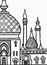 Miraj Isra Islamic Pages Mosque Clipart Coloring Colouring Ramadan Islam Minarets Drawing Clip Studies Towers Eid Familyholiday Related Muslim Religion sketch template