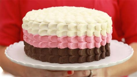 cake neapolitan chocolate vanilla strawberry layer cream ice recipe easy biggerbolderbaking