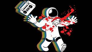 Boombox Astronaut Alien Chestburster Parody T Shirt By ...