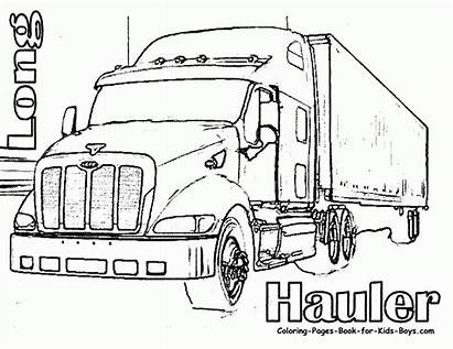 Semi Coloring Truck Pages Boys