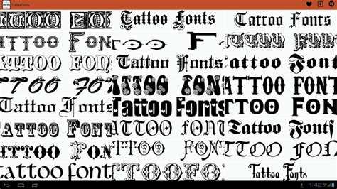 55+ Best Free Tattoo Fonts Collection 2018