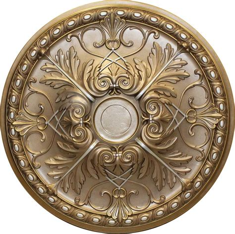 md 9088 faded gold ceiling medallion