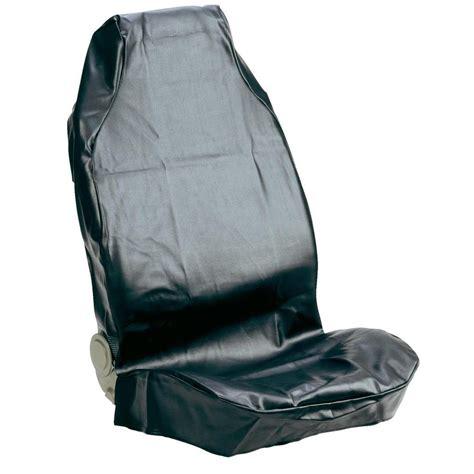 housse de siege cuir housse de siège 1 pièce 074010 cuir synthétique noir siège