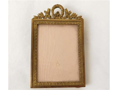 petit cadre porte photo laiton dore napoleon iii antique
