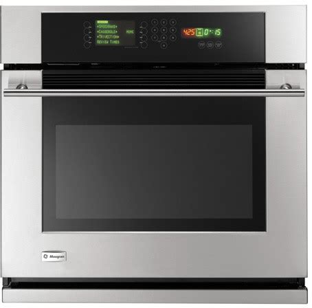 monogram zetshss   single electric wall oven   cu ft trivectionreverse air