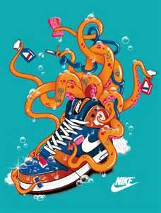 nike schuhe selber design nike octopus inspiration graphic design motion graphics infographics