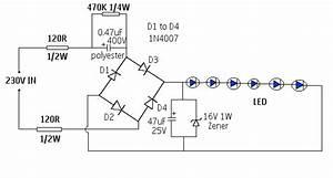 Electronics Circuit Application   Simple 230v Led Driver