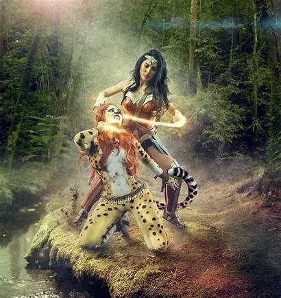 Wonder Woman Cheetah Vs Wallpapers 4k Superheroes