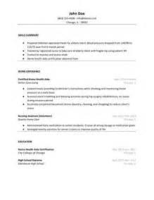 Hha Resume by Home Health Aide Resume Sle Hloom
