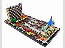 Micropolis Central Station with 1960s appartment building