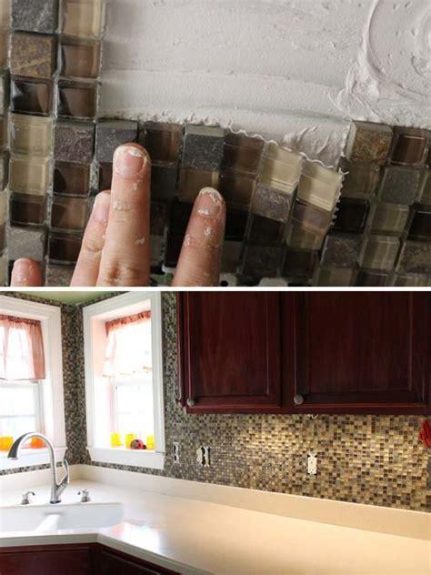 kitchen backsplash ideas cheap 24 cheap diy kitchen backsplash ideas and tutorials you