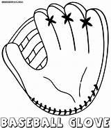 Baseball Coloring Glove Pages Gloves Printable Mlb Sheets Bat Colorings sketch template