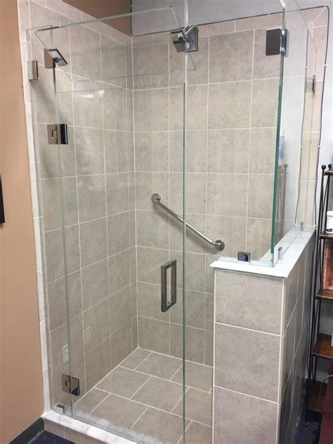 frameless shower door  opening transom absolute