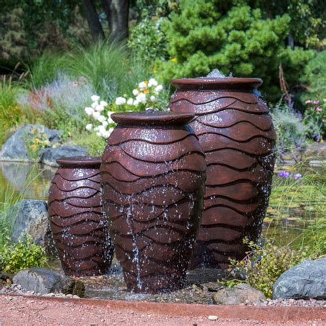 Aquascape Fountains by Scalloped Urn Fiberstone Fountains Fiberglass