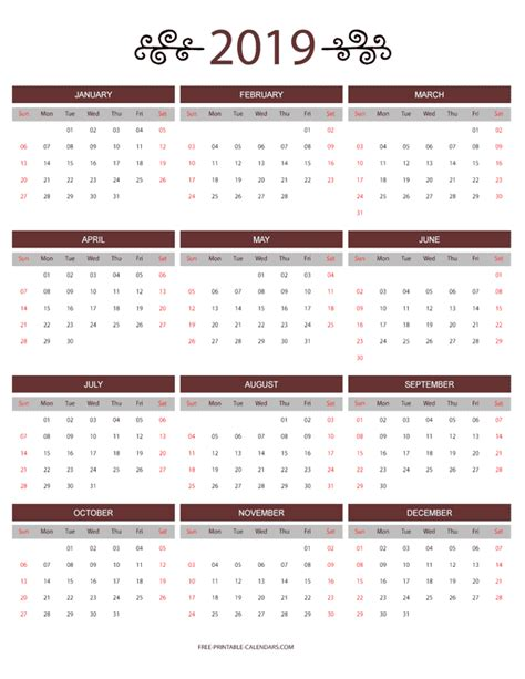 month colorful calendar printable calendars