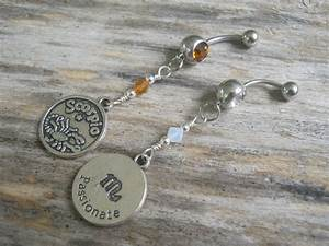 Scorpio Belly Ring Zodiac Belly Button Jewelry Personalized