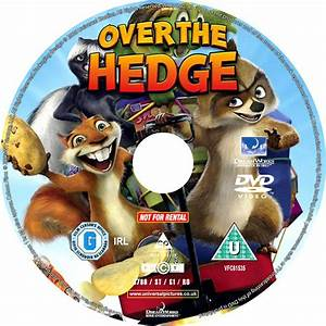 Over The Hedge (2006) R1 - Cartoon DVD - CD Label, DVD ...