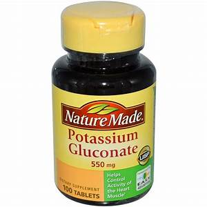 Nature Made, Potassium Gluconate, 550 mg, 100 Tablets ...
