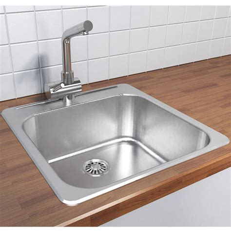 overmount sink kitchen cantrio koncepts stainless steel single bowl overmount 1342