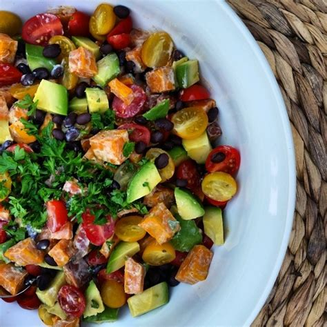 sweet potato sides recipes spicy sweet potato salad excellent side dish for bbq s clean food crush