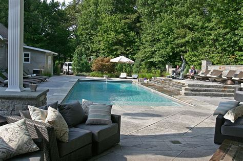 Pebble Stone Pool Deck
