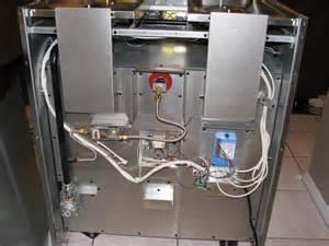 Back of Gas Range Installation