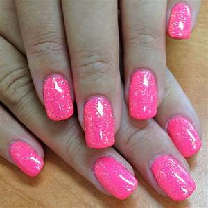Neon Pink Paint with Orange Crush Glitter Gel Tagged