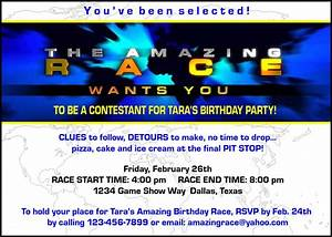 paper perfection free quotamazing racequot birthday party With amazing race birthday party templates