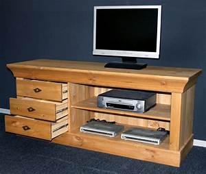 Tv Möbel Lowboard : massivholz tv lowboard tv m bel tv kommode bergen kiefer massiv wei ~ Markanthonyermac.com Haus und Dekorationen